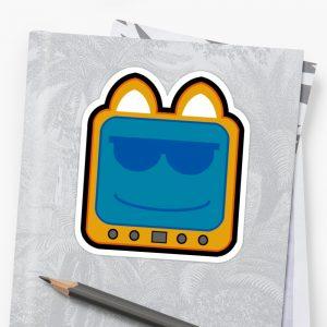 T.v Kitty Cool Glasses 2 Stickers 5d30ac0892d2c.jpeg