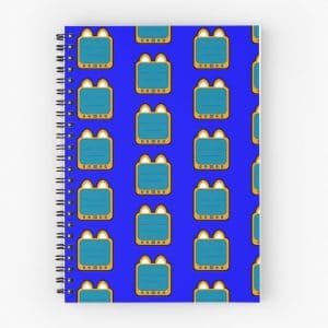 T.v Kitty Lame Face Spiral Notebook 5d31042154681.jpeg