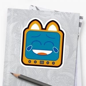 T.v Kitty Laughing Stickers 5d311db3a2157.jpeg